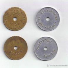 Monedas locales: FICHA: 1 DL Y 1/2 DL AIBAR NAVARRA. Lote 39714159