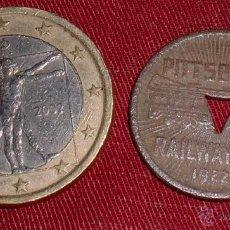 Monedas locales: FICHA TRANVÍA DE PITTSBURGH 1922 BRIGADAS INTERNACIONALES TRINCHERA GUERRA CIVIL. Lote 40500826