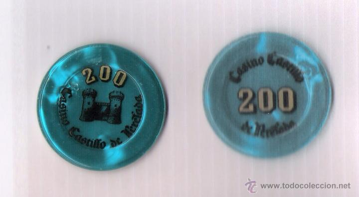 FICHA DE JUEGO DE CASINO CASTILLO DE PERELADA *VALOR 200* COLOR AMARILLO (Numismática - España Modernas y Contemporáneas - Locales y Fichas Dinerarias y Comerciales)