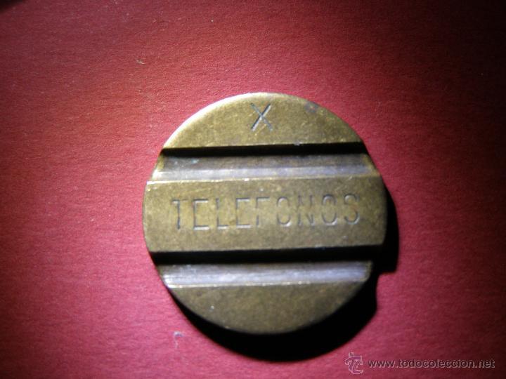 ANTIGUA FICHA PARA CABINAS - TELEFONOS - X - (Numismática - España Modernas y Contemporáneas - Locales y Fichas Dinerarias y Comerciales)