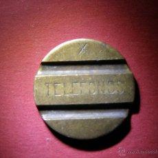 Monedas locales: ANTIGUA FICHA PARA CABINAS - TELEFONOS - X -. Lote 40998291