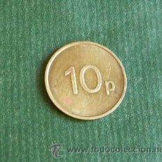 Monedas locales: FICHA TOKEN JETON CASINO INGLATERRA 10P COIN OPERATED PARTS SERVICE LIMITED. Lote 41073071