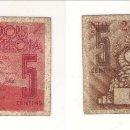 Monedas locales: 5 CÉNTIMOS DE LA UNIÓ DE COOPERADORS DE BARCELONA DE 1936. MBC. CATÁLOGO ANTONI LÓPEZ-1064. (C117).. Lote 41777053