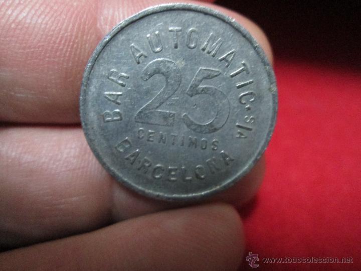 Monedas locales: BAR AUTOMATIC BARCELONA 10 CENTIMOS - Foto 2 - 41905379