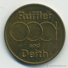 Monedas locales: INGLATERRA. FICHA RUFFLER AND DEITH 5 PENCE. TOKEN . Lote 42285646