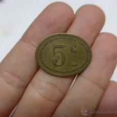 Monedas locales: ANTIGUA MONEDA O FICHA, A IDENTIFICAR, CREO GUERRA CIVIL. Lote 42451124