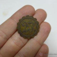 Monedas locales: ANTIGUA MONEDA O FICHA, A IDENTIFICAR, CREO GUERRA CIVIL. Lote 42451153