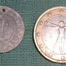 Monedas locales: FICHA DE CATECISMO PARROQUIAL, UNA COMIDA. Lote 42793435
