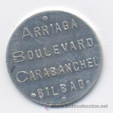 Monedas locales: ARRIAGA-BOULEVARD CARABANCHEL-BILBAO- 1 PESETA. Lote 42888933