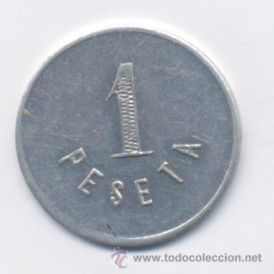 Monedas locales: ARRIAGA-BOULEVARD CARABANCHEL-BILBAO- 1 PESETA - Foto 2 - 42888933