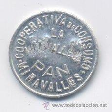 Monedas locales: COOPERATIVA DE CONSUMO LA MIRAVALLES-VIZCAYA- 1 KILO DE PAN. Lote 42889013