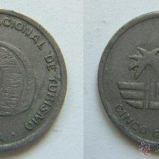 Monedas locales: CUBA 5 CENTAVOS 1989 INTUR. Lote 43036545