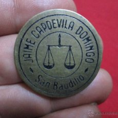 Monedas locales: FICHA COMERCIAL JAIME CAPDEVILA DOMINGO = SAN BAUDILIO. Lote 43120059
