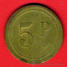 Monedas locales: FICHA CASINO , VALOR 5 PESETAS, ORIGINAL, E. Lote 43165070