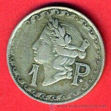 Monedas locales: FICHA CASINO , VALOR 1 PESETA , ANTIGUA , ORIGINAL, D. Lote 43165218