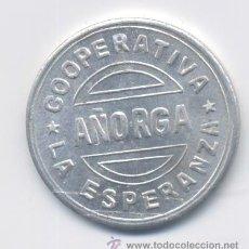 Monedas locales: COOPERATIVA LA ESPERANZA- 1 PESETA- AÑORGA. Lote 43259886