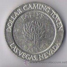 Monedas locales: FICHA DE JUEGO DE DOLLAR GAMING TOKEN LAS VEGAS NEVADA BALLYS. Lote 43668910