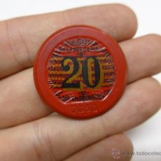 Monedas locales: ANTIGUA MONEDA O FICHA DE CASINO ? A IDENTIFICAR. Lote 43756760