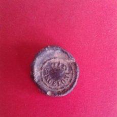 Monedas locales: MARCHAMO FISCAL DE BARCELONA. 1853. PLOMO DE ADUANAS.. Lote 43875496