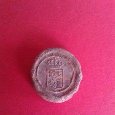 Monedas locales: ANTIGUO MARCHAMO FISCAL DE ADUANA. PLOMO. . Lote 43876214