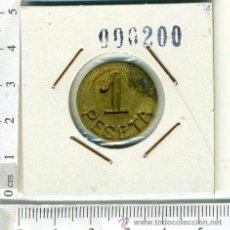 Monedas locales: ANTIGUA FICHA MONEDA DE 1 PTS, REVERSO SIN NINGUNA INSCRIPCION. Lote 43983000
