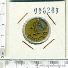 Monedas locales: ANTIGUA FICHA MONEDA DE 1 PTS, REVERSO SIN NINGUNA INSCRIPCION. Lote 43983014