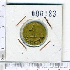 Monedas locales: ANTIGUA FICHA MONEDA DE 1 PTS, REVERSO SIN NINGUNA INSCRIPCION. Lote 43983055