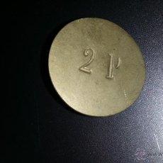 Monedas locales: FICHA O MONEDA O VALE EPOCA ALFONSO XIII O REPUBLICA. Lote 44155953