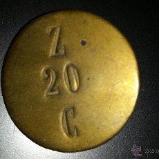 Monedas locales: FICHA O MONEDA O VALE EPOCA ALFONSO XIII O REPUBLICA. Lote 44156081