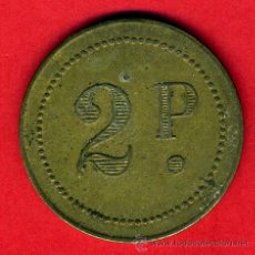 Monedas locales: FICHA CASINO , VALOR 2 PESETAS , GRANDE , ANTIGUA , ORIGINAL , BA. Lote 44243510