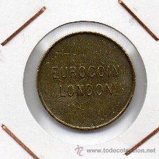 Monedas locales: FICHA COMERCIAL EUROCOIN LONDON ( REINO UNIDO ) MBC+. Lote 44254195