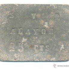 Monedas locales: GUERRA CIVIL CHAPA RACIONAMIENTO VALOR 25 CTS SAN VICENTE PAUL ALAYOR ALAIOR MENORCA. Lote 44295589
