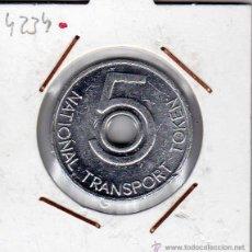 Monedas locales: FICHA 5 PENCE NATIONAL TRANSPORT TOKEN SIN CIRCULAR . Lote 44743138