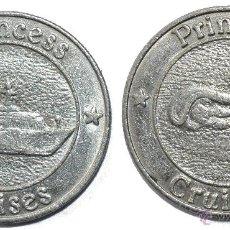 Monedas locales: FICHA TOKEN JETON **PRINCESS CRUISES**. DIÁMETRO 22 MM. Lote 44745941
