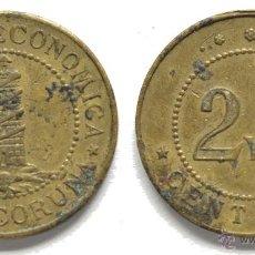 Monedas locales: FICHA TOKEN JETON *COCINA ECONÓMICA LA CORUÑA* DE 2,5 CÉNTIMOS. VER DESCRIPCIÓN. Lote 44746447