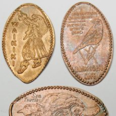 Monedas locales: LOTE 4 MONEDAS ELONGADA DISTINTOS TEMAS (EEUU). Lote 44940921