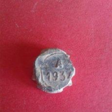 Monedas locales: ANTIGUO MARCHAMO DE PLOMO. A. 1934. . Lote 45054309