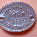 Monedas locales: CHAPA METALICA-LUCHA ANTIRRABICA,AÑO 1964 DE VALENCIA. Lote 45077135