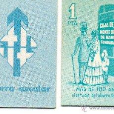 Monedas locales: VALE 1 PESETA CAJA DE AHORROS Y MONTE PIEDAD DE BARCELONA. CIRCULÓ AÑOS 1970. CAIXA. FICHA.. Lote 177858468