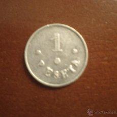 Monedas locales: JETÓN / TOKEN 1 PESETA PARQUE Y MAESTRANZA ( ARTILLERÍA ). Lote 45778360