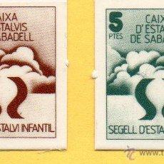 Monedas locales: MM. VALES CAIXA D'ESTALVIS SABADELL. CAJA AHORROS. CIRCULO COMO MONEDA. AÑOS 1970. FICHAS. AHORRO. Lote 45879549