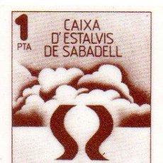 Monedas locales: MM. VALE 1 PESETA CAIXA D'ESTALVIS DE SABADELL. CAJA AHORROS. AÑOS 1970. CIRCULÓ COMO MONEDA. AHORRO. Lote 45879694