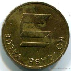 Monedas locales: FICHA, TOKEN A CLASIFICAR. NO CASH VALUE. Lote 45993484