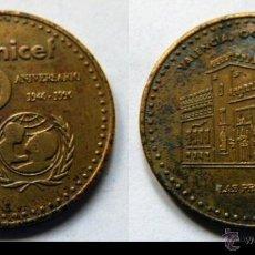 Monedas locales: FICHA 50 ANIVERSARIO DE UNICEF. VALENCIA. LAS PROVINCIAS. 1996. Lote 46175029