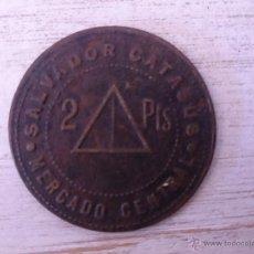 Monedas locales: MONEDA DE COOPERATIVA MERCADO CENTRAL. SALVADOR CATASUS. 2 PTS.. Lote 46251876