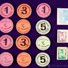 Monedas locales: 15 VALES/MONEDAS DIFERENTES. MERCADOS/ESTABLECIMIENTOS (AHORRO ESCOLAR, SUPERMERCADOS EL TIBURON). Lote 47197794