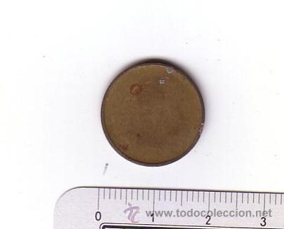 Monedas locales: Antigua ficha.Metal-latón. - Foto 2 - 48915290