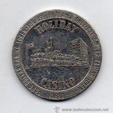 Monedas locales: FICHA DEL CASINO HOLIDAY. LAS VEGAS. USA. AÑO 1982.. Lote 48919927