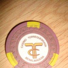 Monedas locales: FICHA DEL CASINO TORREQUEBRADA DE BENALMADENA MALAGA DE 1000 PTAS. Lote 49330000
