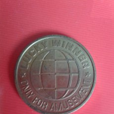 Monedas locales: FICHA /JETÓN . LUCKI WINNER. ONLY FOR AMUSEMENT. ANVERSO Y REVERSO IGUALES.. Lote 49602078
